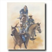 """Buffalo Soldier African American Calvary Mililtary Scouts Wall Art Print 16x20"""""""