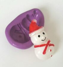 SNOWMAN  Mould Sugarcraft Christmas Fondant Sugarpaste Icing Mold Cake