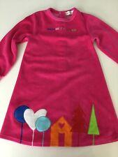 Agatha Ruiz De La Prada Baby Girls Pink Velour Dress Age 4 Years Long Sleeve