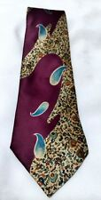 "Le Bil's Abstract Mens Silk Necktie Tie 56""  made in USA"