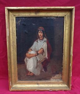 ISIDORE PILS Orientalist Young Princess Berber Kabyle Algeria Framed Oil SIgned