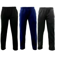 Men's Fleece Lined Track Pants Low Pill Suit Pants Casual Winter Elastic Waist