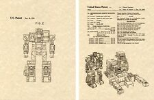 Transformers FORTRESS MAXIMUS US Patent Art Print READY TO FRAME Ohno 1987 G1