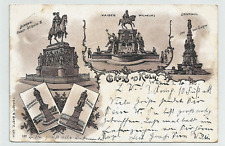 Köln -Bismarck- Moltke- Werth- Kaiser Wilhelm Denkmal - Litho gel. 1900