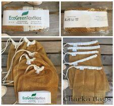 Drawstring Bags Lightweight Nylon Mesh Reusable, washable 12 x 14 in -Set o