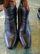 Calvin Klein 9 Womens Black Leather Boots Shoes Good Condition