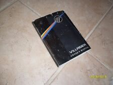 1993 Mercury Villager Owners Manual Owner's Guide Book Original 3rd Edition