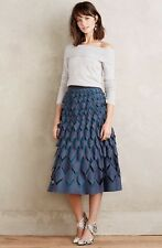 NEW Anthropologie Diamond Cut Felt Skirt Size 0 Petite