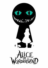 Alice in Wonderland Keyhole-Cat-G-eyes Typography Decorative Vinyl Wall Sticker