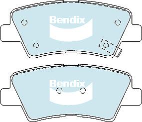 Brake Disc Pad Set Rear Bendix DB2088 GCT For HYUNDAI SONATA KIA OPTIMA SOUL SSA