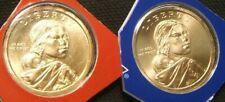2010-P & D Satin Finish ~ Sacagawea Dollars ~ Mint Plastic