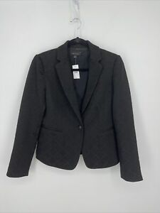 Ann Taylor One Button Black Fitted Blazer Womens Size 6 •NWT•