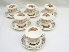 Unboxed British Myott Pottery Cups & Saucers