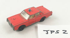 VINTAGE MATCHBOX # 59D FORD MERCURY FIRE CHIEF CAR SUPERFAST WHEELS DIECAST RED