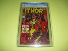 Mighty Thor #153 CGC 9.4 OW/W pages from 1968! Marvel not CBCS A11