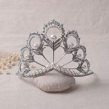 Vintage Wedding Bridal Crystal Pearl Fashion Queen Crown Tiara Hair Accessories
