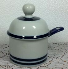 Dansk Blue Mist Jam/Jelly Bowl with Lid and Spoon Niels Refsgaard