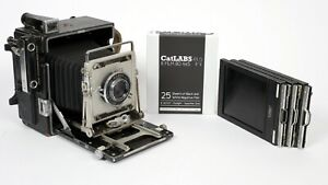 Graflex Speed Graphic 4X5 Camera with 135mm Lens + Holders + FILM *CLA*