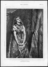 1875 Antique Print - FINE ART Judiths Prayer Portaels Curtain Ladies   (G129)