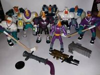 Disney 90's Mighty Ducks Action figure lot of 9 and 2 vehicles