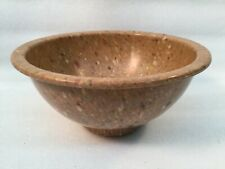 """New listing Texas Ware #111 Brown Confetti Spatter 8"""" Round Mixing Bowl"""