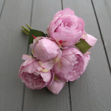 Artificial Lilac Peony Flower Bunch