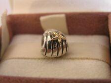 ORIGINALE Pandora in Argento Seashell 14ct Oro Ciondolo Stella Marina 790249 3313 3315