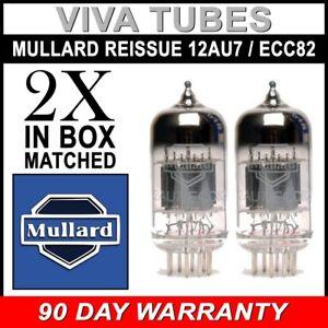 Brand New Mullard Reissue 12AU7 ECC82 Gain Matched Pair (2) Vacuum Tubes