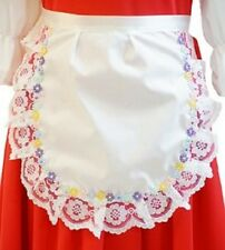 Stage-Show-Girls/Ladies-LACE & FLOWER PINNY Great Fancy Dress Accessory One Size