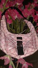 Ralph Lauren pink shoulder tote w/black canvas shoulder strap