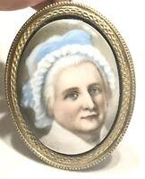 Rare Antique Vintage 18/19C  Chevalier d'Éon Miniature Portrait Hand Painted