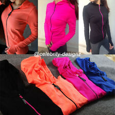 spj3 Womens Sports Running Jacket Seamless Gym Long Sleeve Hoodie Top Quick Dry