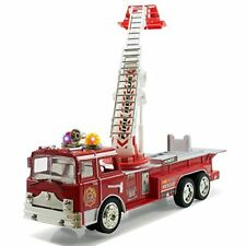 Rescue Fire Engine Truck Kids Toy with Extending Ladder Lights Siren Sounds