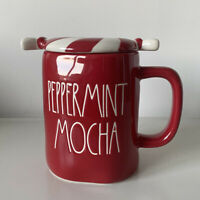 New Rae Dunn Peppermint Latte Red Topper Online Exclusive Mug - Christmas 2020