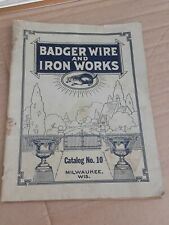 RARE ANTIQUE BADGER WIRE AND IRON WORKS CATALOG #10 CEMETERY GRAVE CROSSES GATES