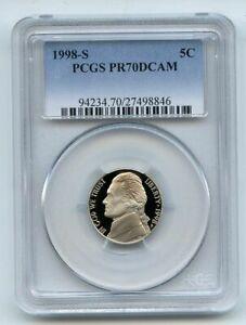 1998 S 5C Jefferson Nickel Proof PCGS PR70DCAM