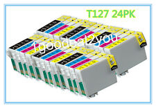 24 PK T127 XL Ink cartridge For Epson Workforce 545 633 635 845 WF-3540 WF-7510