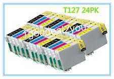 24 PK T127 XL Ink cartridge For Epson Workforce 60 630 645 840 WF-3520 WF-7520