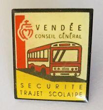 Vendee Conseil General Securite Trajet Scolaire Bus Pin Badge Vintage (C4)