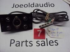 """Kenwood KR 9600 Original RCA Jack Panel Tape """"B"""" w/ Socket. Parting Out KR 9600"""
