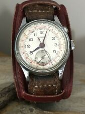 Extremely Rare Lovely Vintage Leonidas Mono Pusher Chronograph Manual Wind Watch
