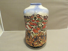"""Moorcroft 11"""" tall vase made in England signed B.A.Wilkes"""
