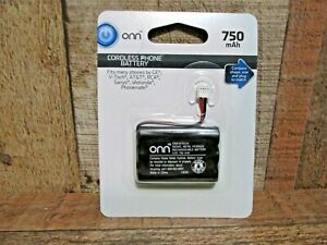 ONN. Cordless Phone Battery, 3.6V 750Mah Nimh