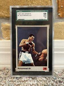1991 MUHAMMAD ALI AW SPORTS BOXING CARD #1 SGC 98 GEM MINT 10