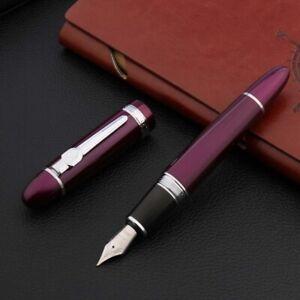 High quality jinhao159 Fountain Pen purple silver luxurious Writing ink pen