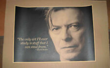 AFFICHE DAVID BOWIE THE ONLY ART I'LL EVER STUDY IS STUFF THAT I CAN 29,5x42cm