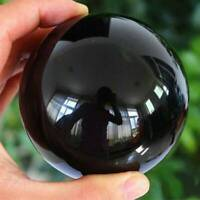 30MM Natural Obsidian Sphere Black Rare Crystal Ball Healing Stone Gemstone