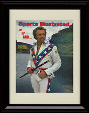 Framed Evel Knievel Sports Illustrated Autograph Replica Print - Up and Away!