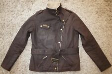 Barbour International MATLOCK WAXED JACKET in Rustic Brown - UK Size 10 [3951]