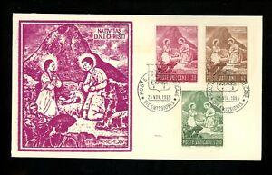 Postal History Vatican City FDC #420-422 Peru Peruvian Christmas Nativity 1965